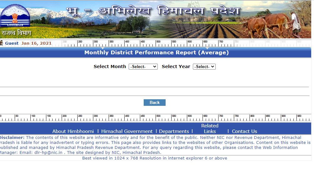Monthly District Performance