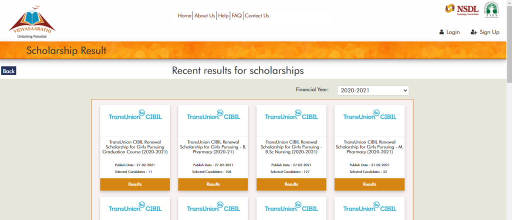 View Scholarship Result