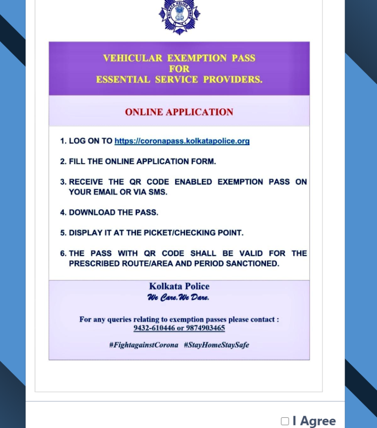 Application for West Bengal E Pass
