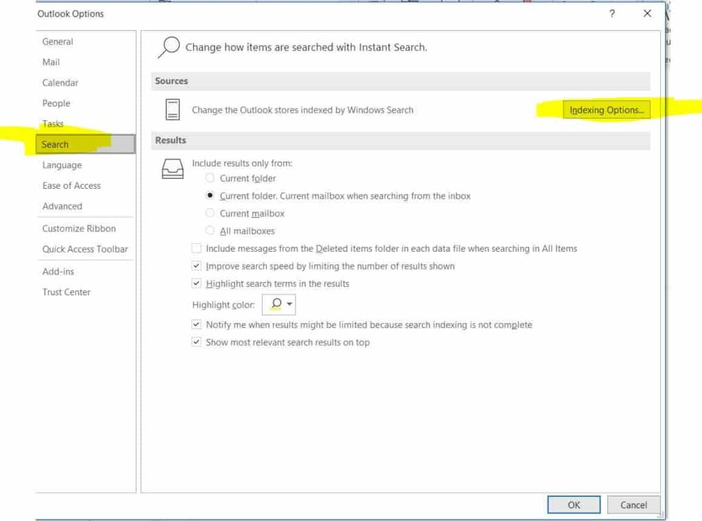 search-rebuild-outlook-index